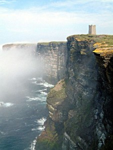 Marwick head in the mist
